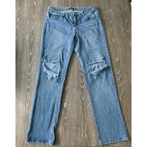 Highway Jeans Blue Jeans with Knee cut out